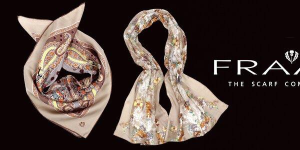 Elegantné šatky Fraas z pravého hodvábu