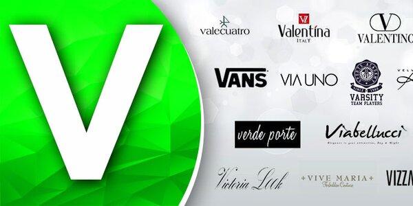 V - Valentino, Vans, Via Uno... Skladom