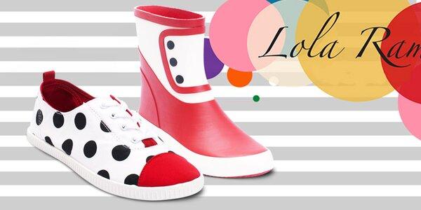 Parádne farebné retro topánky Lola Ramona
