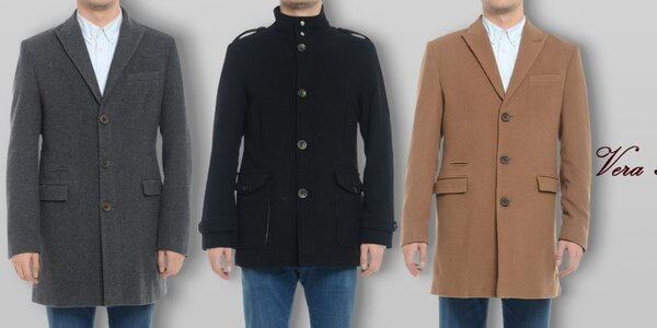 Pánske vlnené kabáty Vera Ravenna