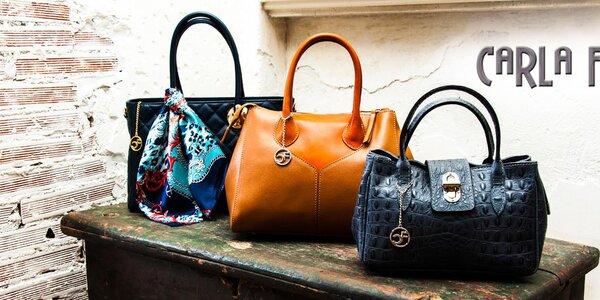 Dolaďte outfit luxusnou koženou kabelkou Carla Ferreri