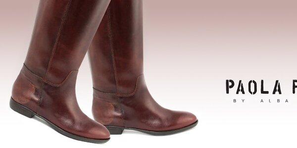 Kožené topánočky pre dámske nožičky Paola Ferri