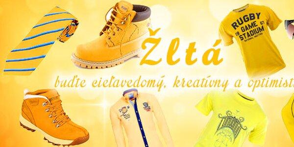 Žltá - buďte cieľavedomý, kreatívny a optimistický