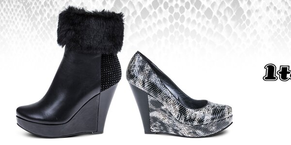 Atraktívne topánočky pre zmyselné ženy 1to3