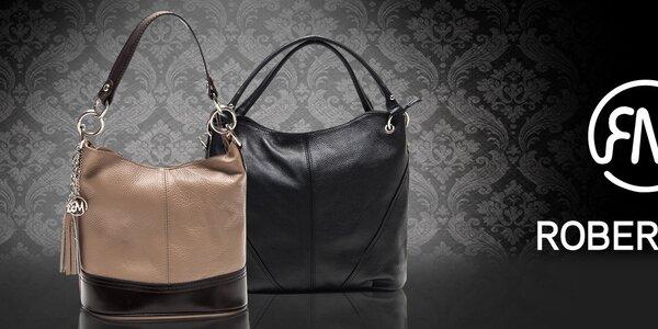 Šmrncovné kožené kabelky z Talianska Roberta Minelli
