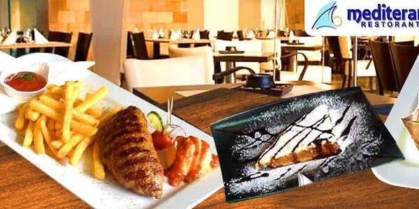 Stredomorské 3-chodové menu