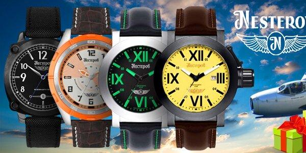 Nesterov pánske hodinky - pilotom vlastného času
