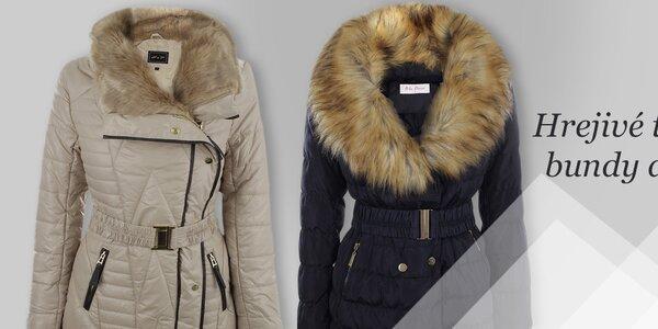 Dámske kabáty Foglie Rosse, Blue Deise