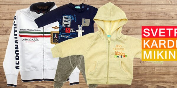 Detské svetre a mikiny - skladom