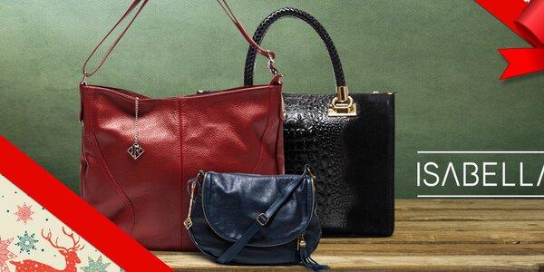 Elegantné kožené kabelky Isabella Rhea