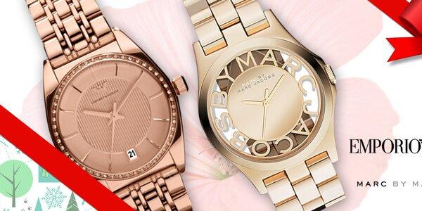 Darujte luxusné dámske hodinky Emporio Armani a Marc Jacobs