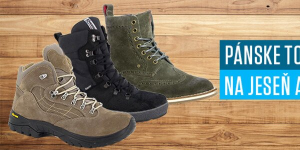 Pánske topánky na jeseň aj zimu - Všetky skladom!