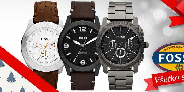 Darujte k Vianociam štýlové pánske hodinky Fossil