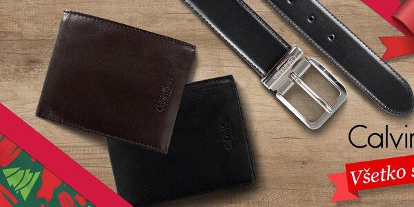 Pánske peňaženky a obojstranné opasky Calvin Klein