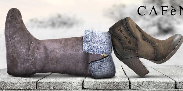 Šmrncovné dámske topánky do mesta Café Noir