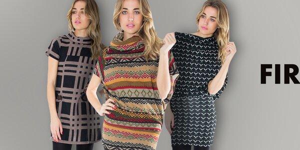 Dámske šaty plné farebných vzorov First