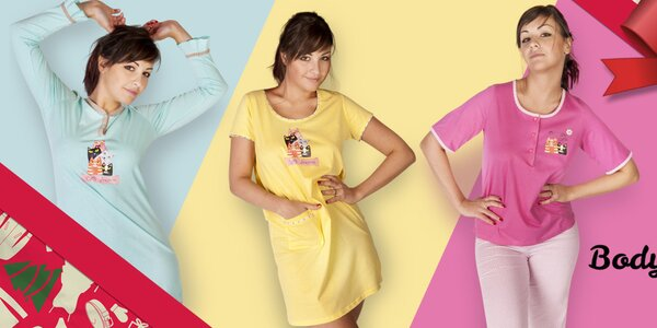 Farebné dámske košieľky a pyžamá Body International