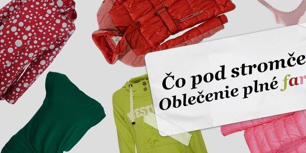 Tipy na darček: Farebné oblečenie pre krajší deň
