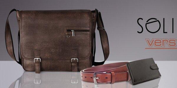 Pánske tašky, peňaženky a opasky Solier, Verso