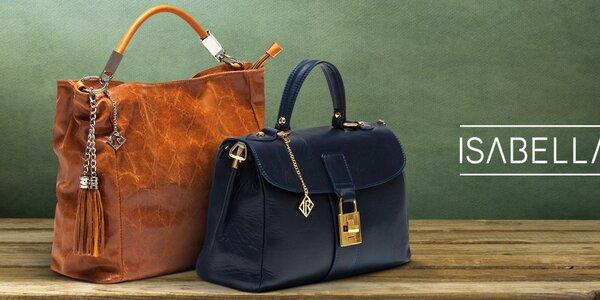 Pôvabné dámske kožené kabelky Isabella Rhea