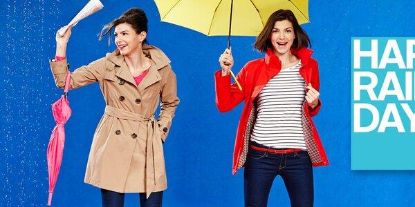 Dámske farebné bundy a trenčkoty Happy Rainy Days