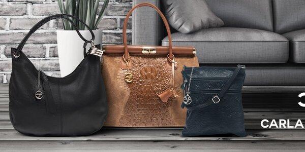 Dámske kožené kabelky Carla Ferreri