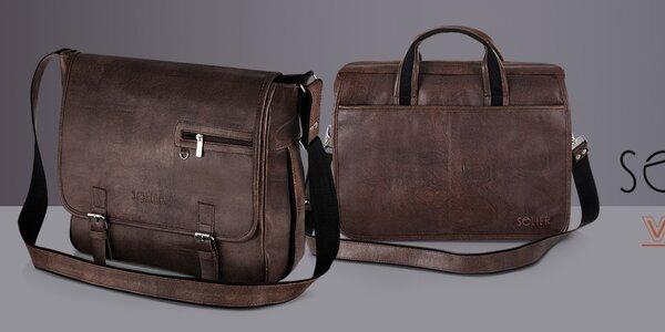 Pánske tašky a kožené opasky Solier, Verso