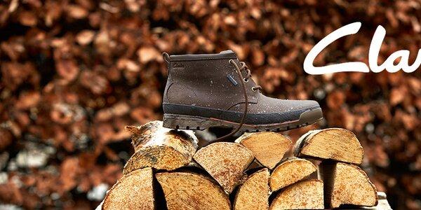 Pánske kožené topánky Clarks