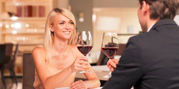 Romantická slávnostná večera pre dve osoby