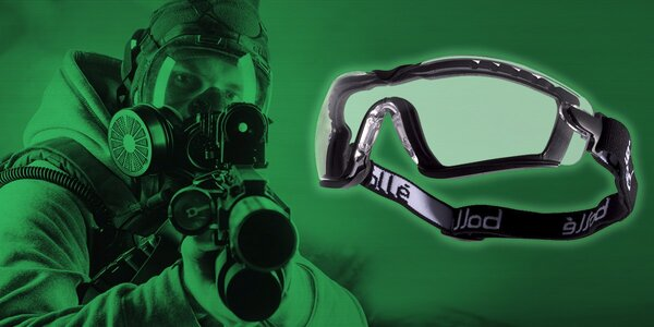 Číra taktická maska na strelecké športy