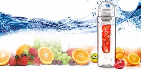 Štýlová H2O fľaša Sensations. Ochuťte si vodu ovocím!