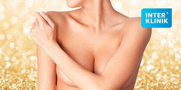 Zväčšenie prsníkov silikónovými implantátmi