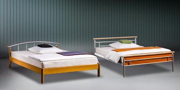 Sladké sny s dreveno-kovovou posteľou VANESSA 2 alebo CLASSIC