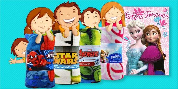 Detské fleecové deky s filmovými motívmi