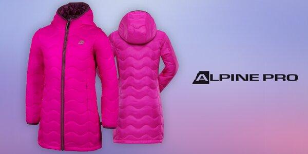 Zateplený dievčenský kabát z vodeodoľného materiálu z Alpine Pro