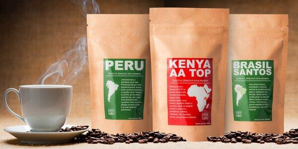 Sety čerstvo pražených káv z celého sveta