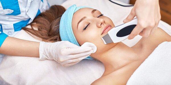 Čistenie a vyhladenie pleti ultrazvukom a galvanickým prúdom alebo diamantovou…