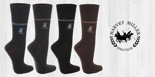 Elegantné ponožky pre pánov značky Harvey Miller Polo Club