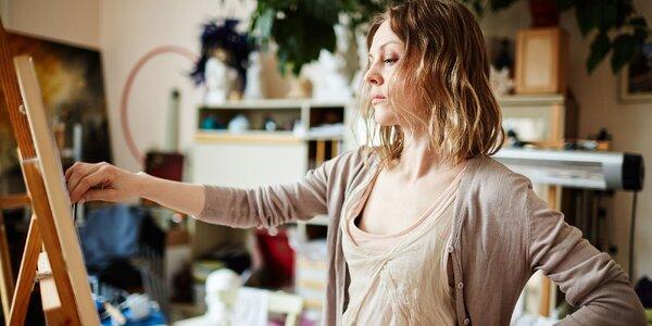 Výtvarné kurzy a workshopy s profesionálnymi výtvarníkmi v ateliéri