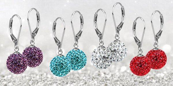 Elegantné oceľové guľôčkové náušnice Discoballs