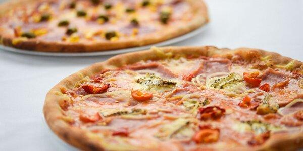 Dve výborné pizze podľa vlastného výberu a dezert