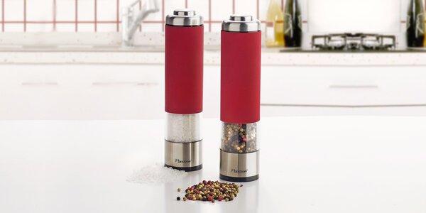 2 elektrické mlynčeky na korenie Bestron v červenej farbe