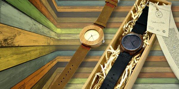 Štýlové drevené hodinky LEFT