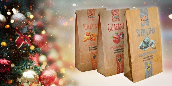 Vytvorte si svoj vianočný balíček z Kurkumy, Guarany a Spiruliny