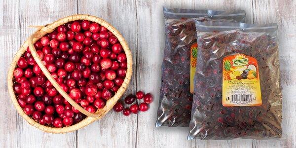 Sušené brusnice 1000 gramov - zdroj vitamínu C a silné prírodné antibiotikum