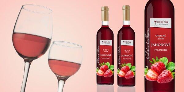 6 fliaš poctivého polosladkého jahodového vína