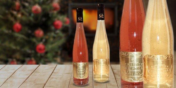 Vianočné Gold Cuvee Label – biele víno s 23 karátmi