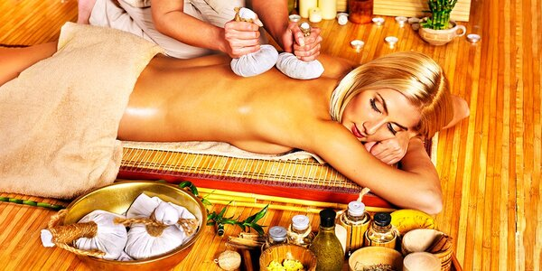 """Luxusný balíček thajských procedúr """"Celá zlatá"""", ananásová alebo pomarančová…"""