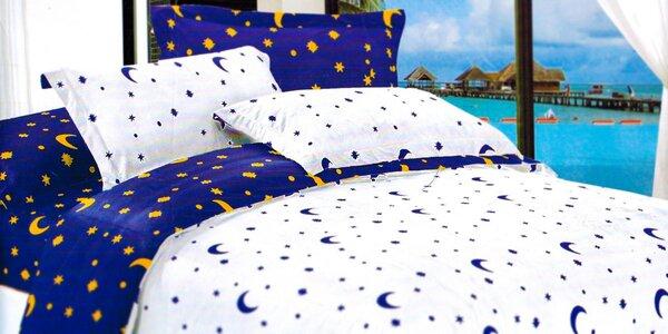 7-dielna súprava posteľných obliečok s hviezdičkami