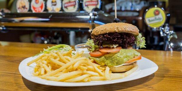 Genovese burger s hranolčekmi a dresingom